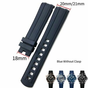 20mm Fluorine Silicone Rubber Watch Band Watchband For OMEGA SEAMASTER 300 Strap