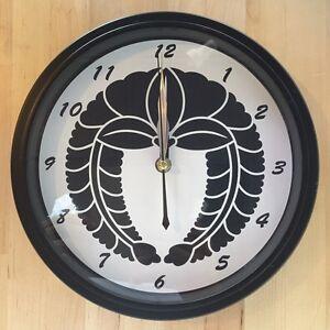 Kamon Japanese Family Crest Sagarifuji 9 - 9.5 inch Wall Clock