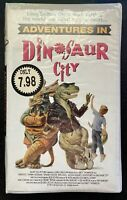 SEALED Vintage 1991 ADVENTURES IN DINOSAUR CITY Megan Hughes VHS RARE Film Katz