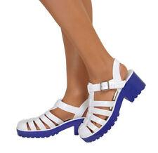 Sandalias y chanclas de mujer blancos sintético, Talla 38