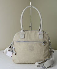 Kipling HB6599 Creme Beige Cadie Triple Compartments Satchel