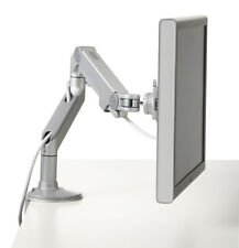 Humanscale M8 Monitor Arm - Bolt-Through Mount, Silver with Gray Trim