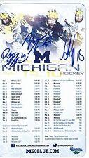 Andrew Copp Mac Bennett Derek Deblois Signed MICHIGAN WOLVERINES Magnet Schedule