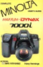 Minolta Classic Cameras 7000i instruction manual book guide