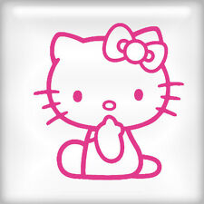 Hello Kitty Sitting Pink wall vinyl art decal sticker 15x14