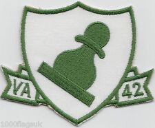 US Navy VA-42 Attack Squadron 42 Green Pawns Embroidered Patch Badge