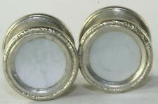 VINTAGE 1920'S MOTHER OF PEARL SECURITY BRAND SNAP CUFFLINKS