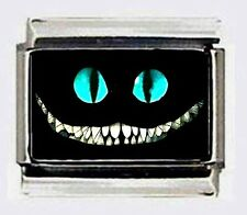 CHESHIRE CAT SMILE 9mm Italian Photo Charm for modular nomination style bracelet
