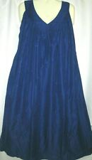 Womens Dress Mumu Sundress Blue Cotton Blend Free Size Fits Size 2X 3X
