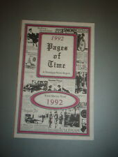 1992 PAGES OF TIME A NOSTALGIA NEWS REPORT   B9