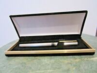 VINTAGE  STERLING SILVER 925 AURORA ITALY FOUNTAIN PEN GOLD PLATED TRIM AND NIB