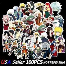 100pcs Anime Naruto Stickers Sasuke Decals For Skateboard Car Luggage Laptop DIY