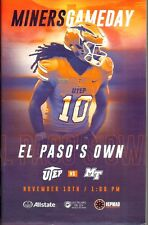 2018 UTEP-Middle Tennessee Gameday Football Program
