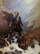 Libro De Pintura Stevenson secuestrado Wyeth earraid Isla impresión arte cartel lf334