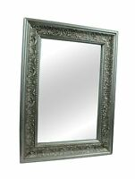 Ornate French Vintage Style Shabby Chic Wall Mirror- Gold, Silver, White & Grey