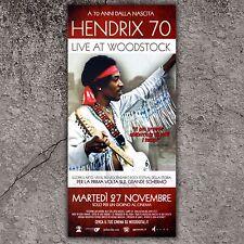 Locandina Originale Jimmy Handrix 70 Live At Woodstock - Size: 33x70 CM