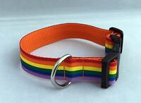 Dog Collar Rainbow Design Unusual Funky Pets Pride Rainbow Gift Handmade Xmas