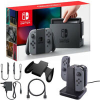 Nintendo Nintendo Switch Gray Joystick Controllers with Charging Dock Bundle