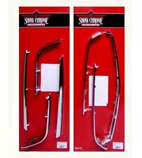 Goldwing GL1800 7-Piece Chrome Trunk & Saddlebag Molding Set (52-611 & 52-612)