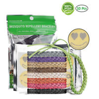 10x 100% Natural Mosquito Repellent Bracelet for Adults, Kids Pets, Non-Toxic