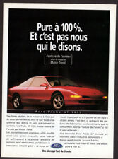 1993 FORD Probe GT Vintage Original Print AD - Red car photo coupe 2-door canada