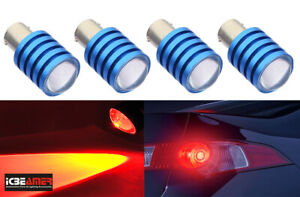 x2 prs 1157 2357 2396 7.5W LED Red Front Turn Signal Light Bulbs Lamp O87