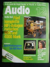 AUDIO 12/80,LUXMAN PD 277,TECHNICS SU V 8,DUAL CS 731 QMC,UNION  60 3D,RIBBON 10