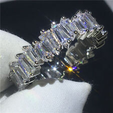 Gold Filled Wedding Jewelry Engagement Gift Full Clear Cz Zirconia Ring White