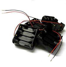 C1208-1v2 RC Battery Holder Case Box Pack 8 AA nessun connettore fine Sacco di 4