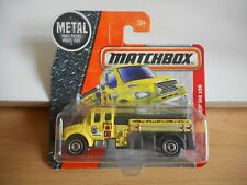 Matchbox Freightliner M2 106 Fire Truck in Yellow on Blister