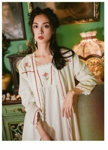 New Luxurious White Vintage Victorian Ladies Womens Nightdress & Gown ladpj262