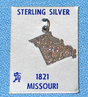 Vintage 1960's Travel Souvenir Sterling Charm - Missouri - NOS
