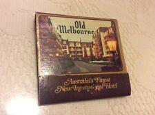 VINTAGE OLD MELBOURNE HOTEL MATCH BOOK