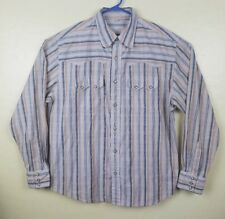 Vintage Scully Western Pearl Snap Shirt Mens Size Large Long Sleeve Striped