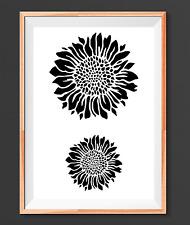Sunflower Nature Mylar Reusable Stencil Airbrush Painting Art Craft