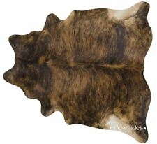 Brindle Brazilian Cowhide Rug Cow Hide Area Rugs Skin Leather Size XXL
