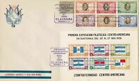 guatemala 1938 central america multi stamp & sheet airmail cover ref r11763