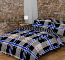 Linge de lit et ensembles bleu avec des motifs Carreaux