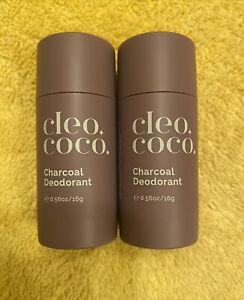 (2)CLEO + COCO Charcoal Deodorant SWEET SURRENDER Lavender Vanilla(0.56oz)SAMPLE