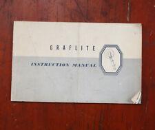 GRAFLEX GRAFLITE INSTRUCTION BOOK/210741