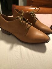 MADEWELL Size 6 The Frances Oxford in Tan Leather