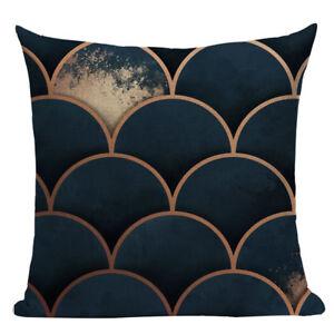 Geometric Moon Cushion Cover, magical, cotton canvas, navy blue, modern