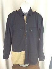 Mens BROOKLYN BANDIT JEANS CO LONGSLEEVE SHIRT EUC NEW YORK HIP HOP SWAG BUTTON