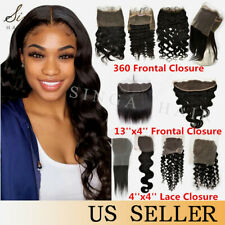 Pre Plucked 360 Lace Frontal Closure Wet and Wavy 9A Brazilian Virgin Human Hair