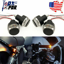 4Pcs 12V Motorcycle Turn Signal Handlebar End LED Light Indicator Blinker Amber