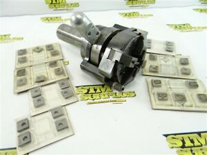 """CLEVELAND THREADING DIE HEAD SIZE 102 STYLE DMS 1-1/2"""" SHANK + NEW CHASERS"""