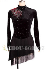 Black Custom Fashion figure Skating Dresses skating costumes For Adults or Girls