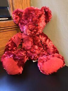 "Russ Berrie Sherry Rose 15"" Teddy Bear Stuffed Plush"