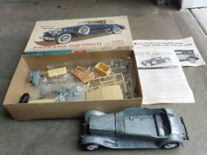 Hubley 1930 Dietrich Packard Die Cast Plastic Model Kit 1963 Issue 1/22 Started