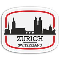 2 x 10cm Zurich Switzerland Vinyl Stickers - City Sticker Laptop Luggage #17100